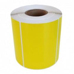 Däcketikett gul Fasttyre...