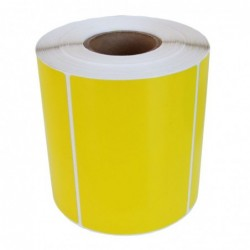 Däcketikett 105x74 gul (450)